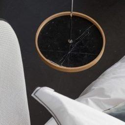 Pikka Circulum Ring black marble