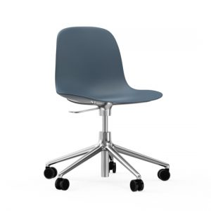Normann Copenhagen Form Arm Chair Aluminium with wheels 4