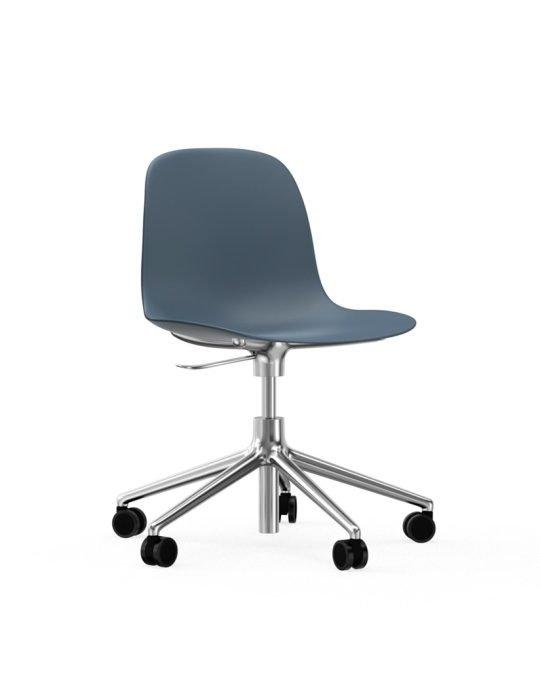 Normann Copenhagen Form Arm Chair Aluminium with wheels 4