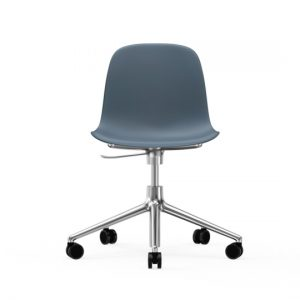 Normann Copenhagen Form Arm Chair Aluminium with wheels 3