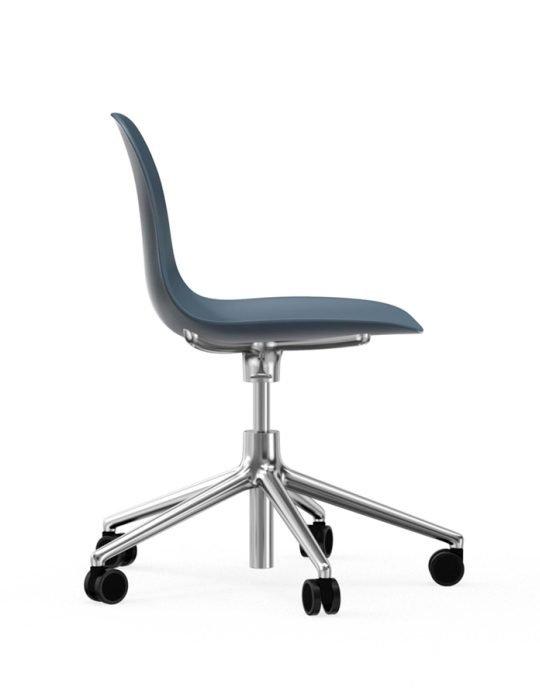 Normann Copenhagen Form Arm Chair Aluminium with wheels 2