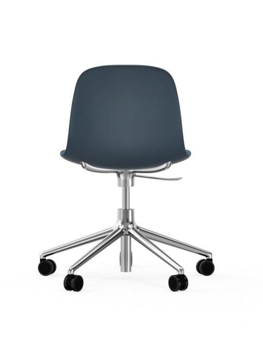 Normann Copenhagen Form Arm Chair Aluminium with wheels