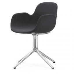 Normann Copenhagen Form Arm Chair Aluminium Upholstered Fame 60003 Grey