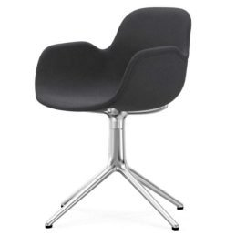 Normann Copenhagen Form Arm Chair Aluminium Upholstered Fame 60003 Grey