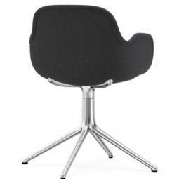 Normann Copenhagen Form Arm Chair Aluminium Upholstered Fame 60003 Grey 3