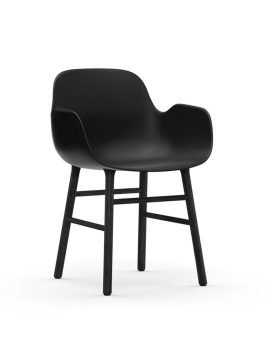 Normann Copenhagen Form Arm Chair Black Black 4