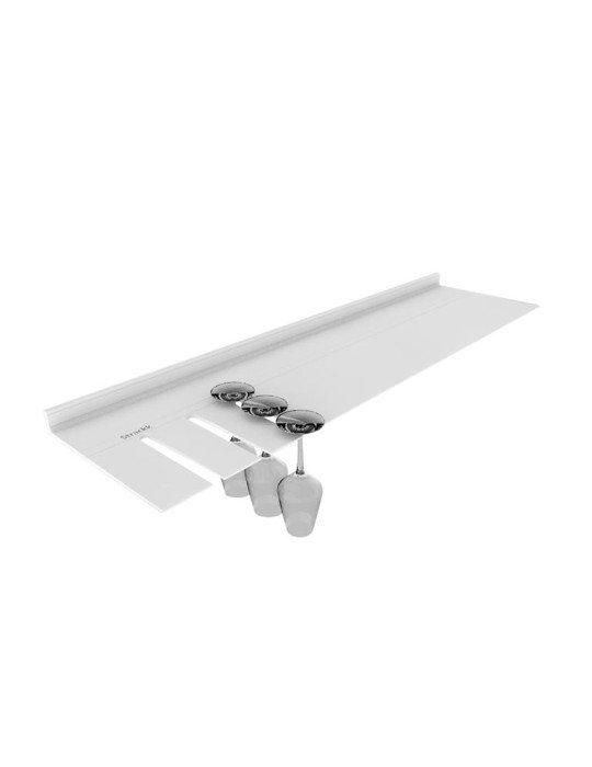 Strackk Shelf Aluminium Glass