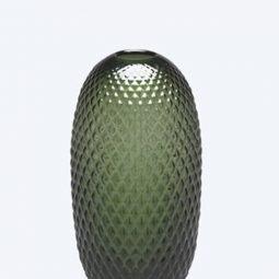 Fest Facet Green Vase S
