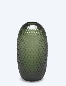 Fest Facet Green Vase S