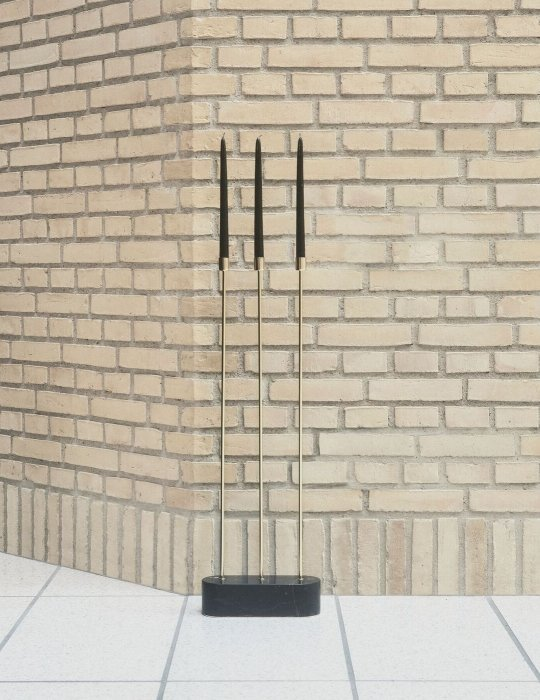 AYTM GRASIL floor candle holder gold