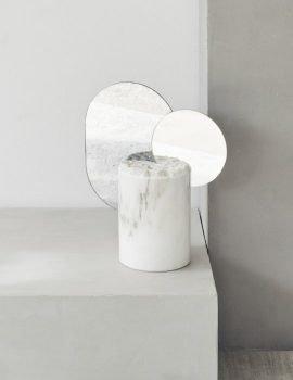 Double moon sculpture white