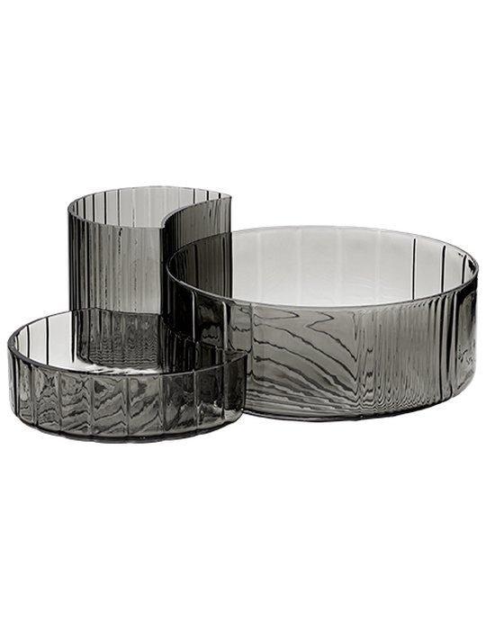Concha bowls black set / 3