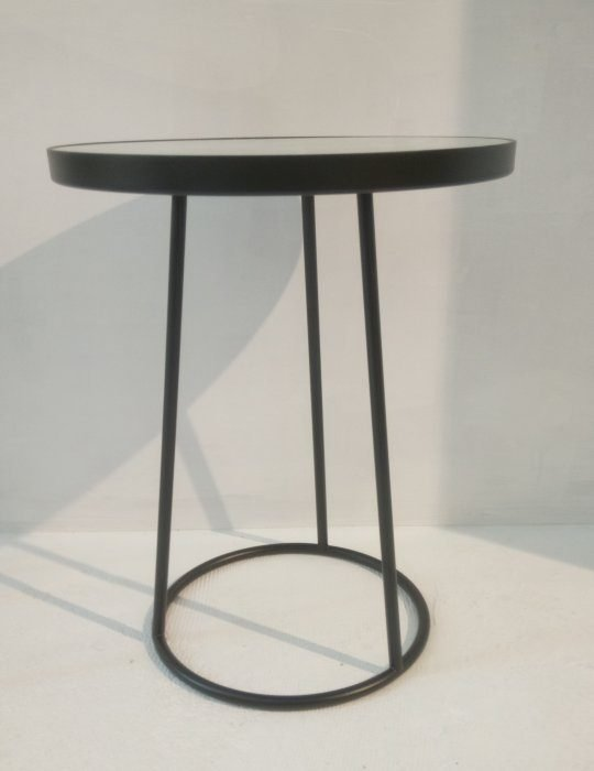 Ray Table Black Flower Small