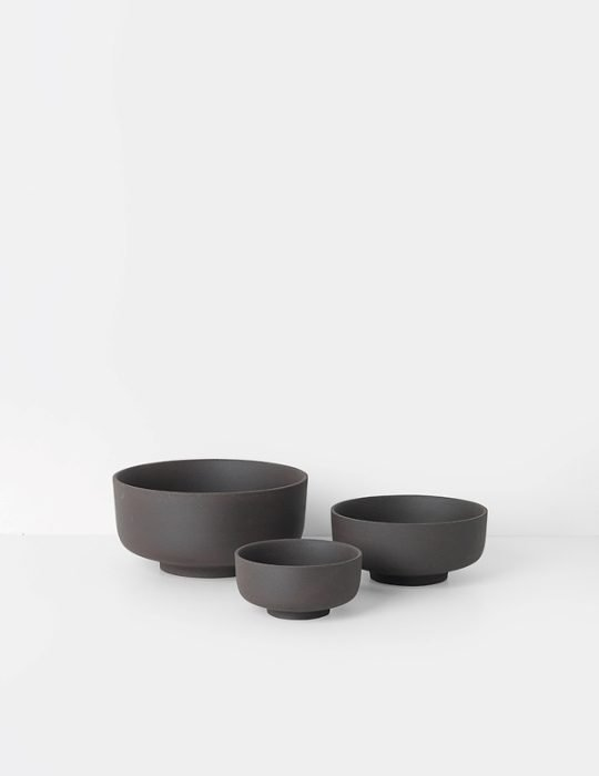 Sekki Bowls - Charcoal (set of 3)
