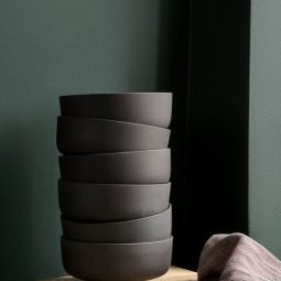 Ferm Living Sekki Bowls - Charcoal (set of 3)