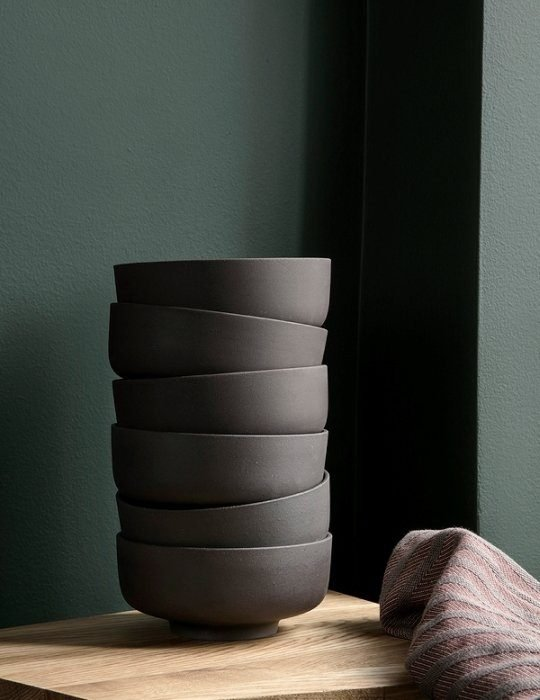 Ferm Living Sekki Bowls - Charcoal (set of 3)