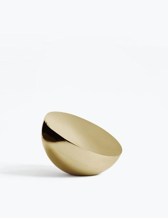 New Works Aura Table Mirror Brass
