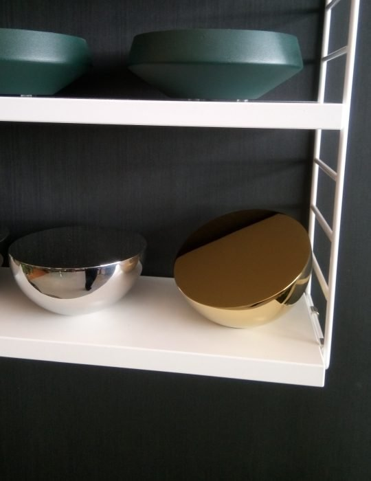 Aura Table Mirror in Silverview Showroom