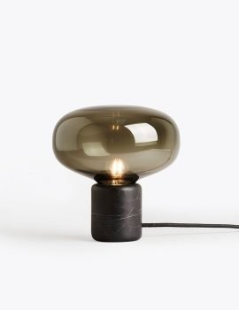New Works Karl-Johan Table Lamp - Black Marquina