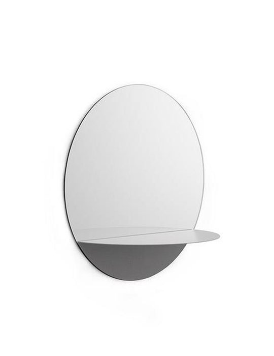 Horizon Mirror Round Grey