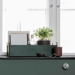 Ferm Living Plant box small dark green