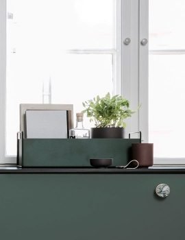Ferm Living Plant box small dark green