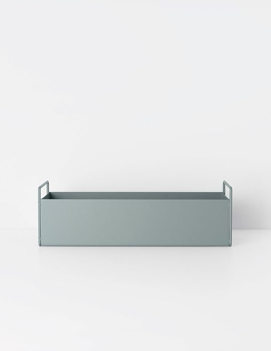 Ferm Living Plant box small dusty blue