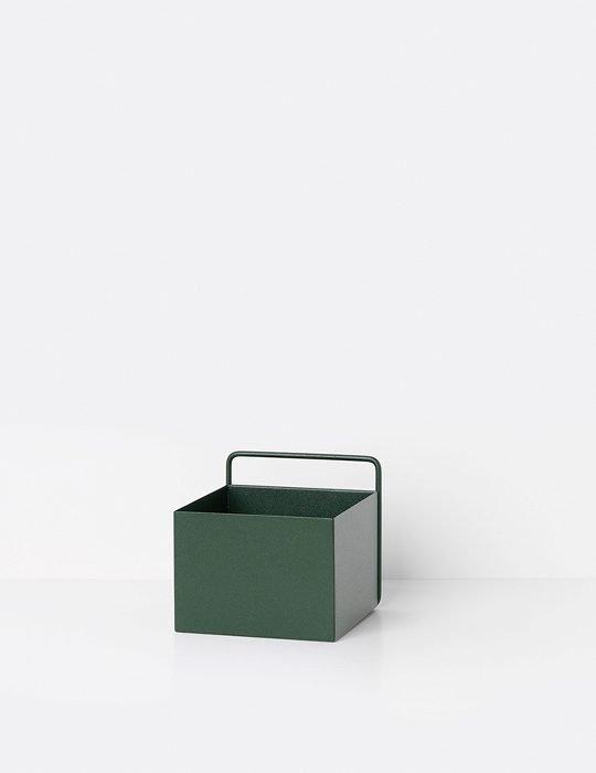 Ferm Living Plant box dark green square