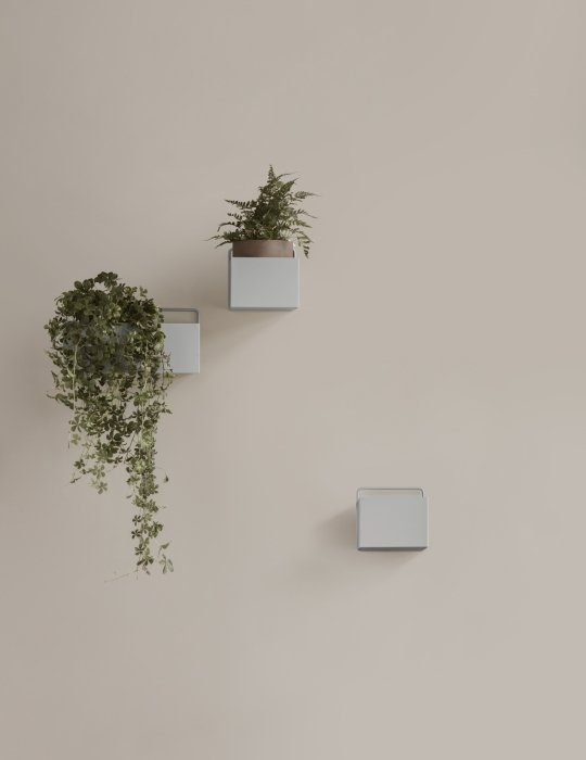 Ferm Living Plant box light grey square