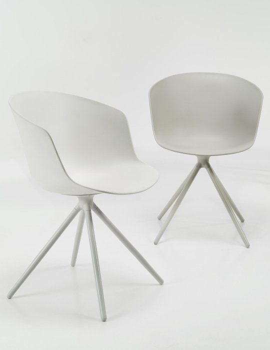 Won Design mono chair white grey