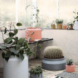Ferm Living Pot Ochre and Grey