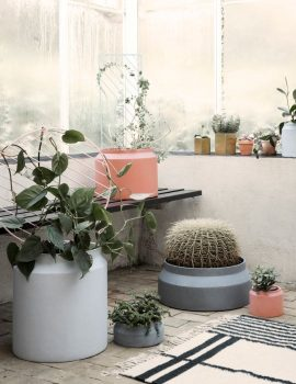Ferm Living Pot Ochre and Grey