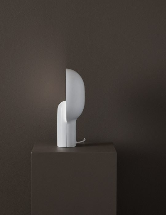 New Works Ware Table Lamp Milky White