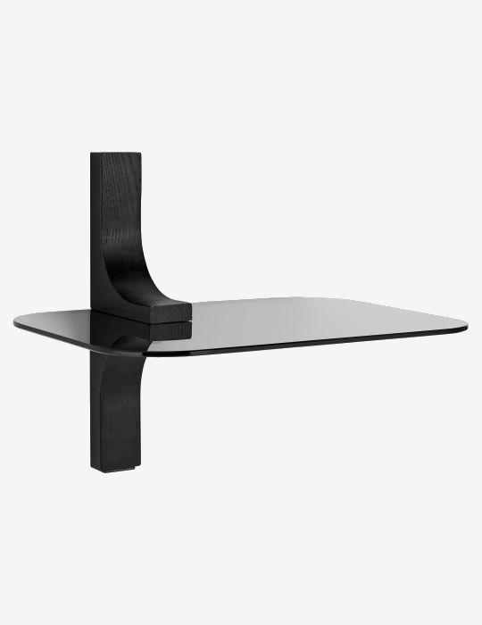 Black Glass Pato Shelf Square