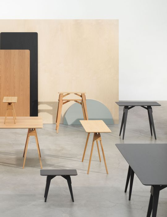 Design House Stockholm Small Black Arco Side Table